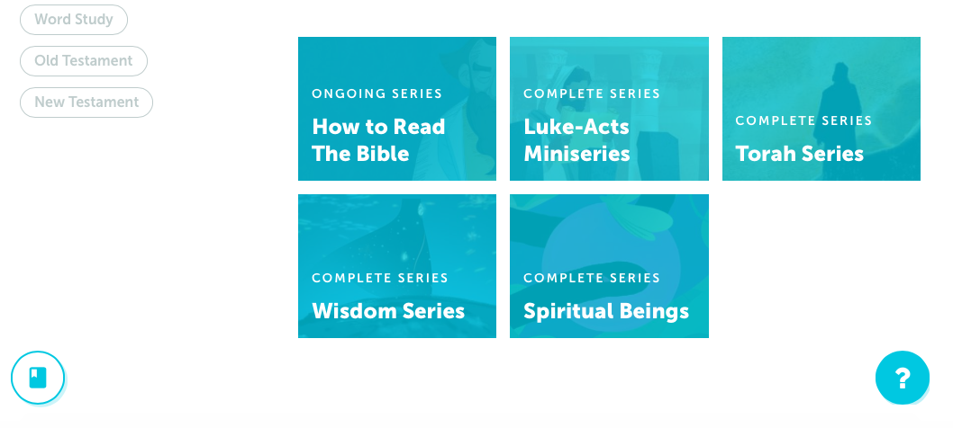 The Bible Projects ongoing and complete series